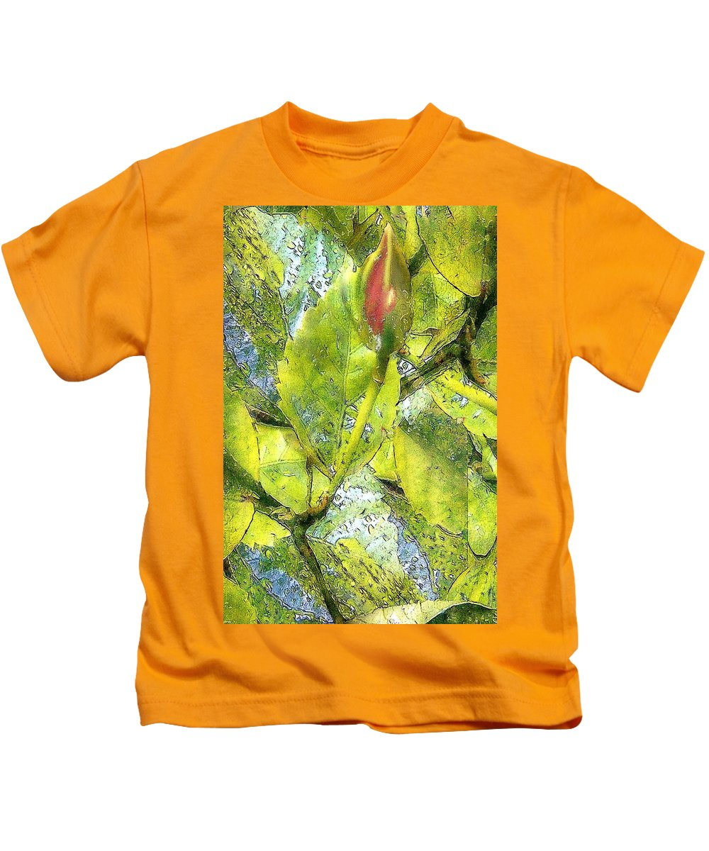 Blues Kids T-Shirt featuring the painting This Bud's For You by RC DeWinter