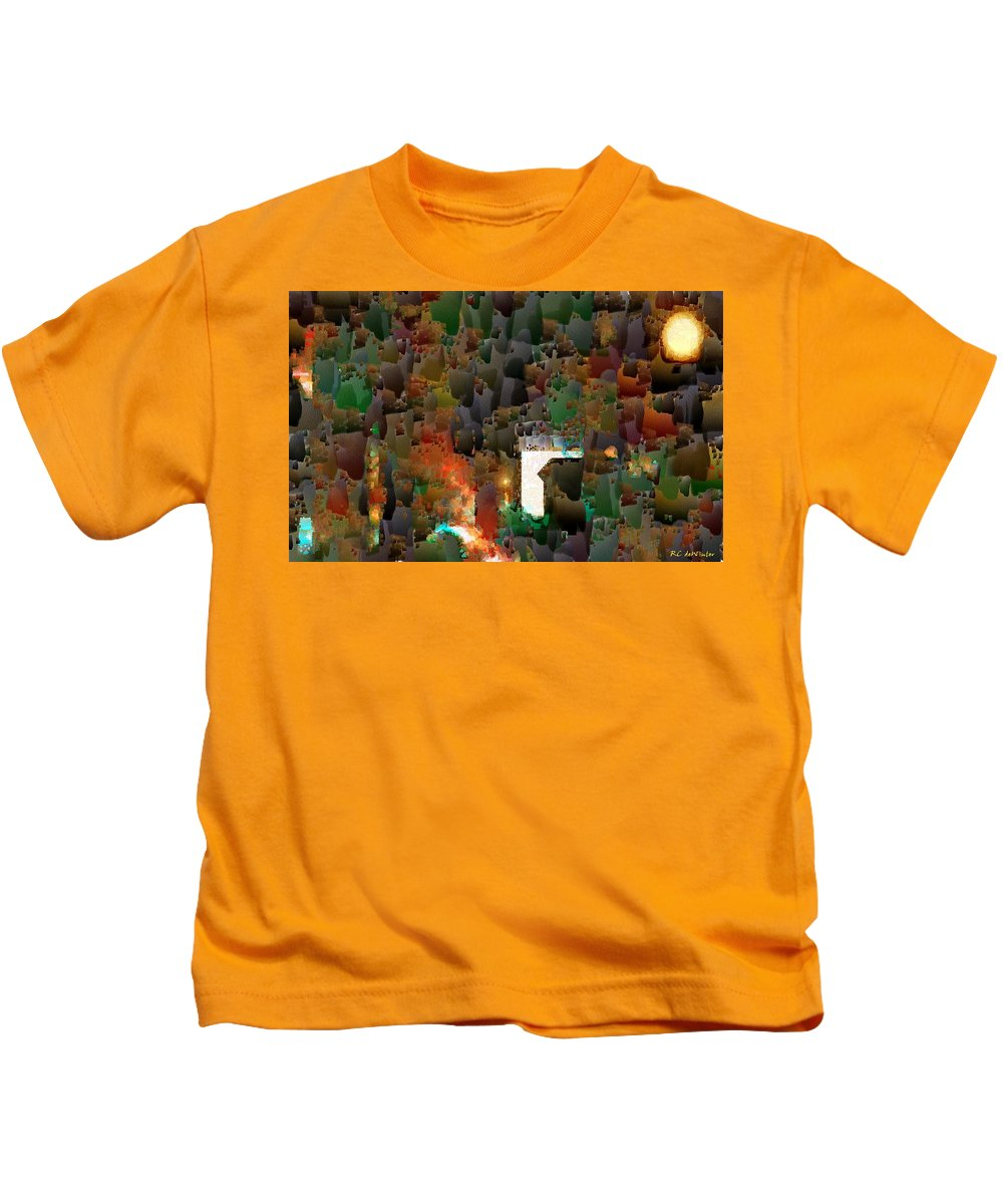 Semi-abstract Kids T-Shirt featuring the painting This Little Light Of Mine by RC DeWinter