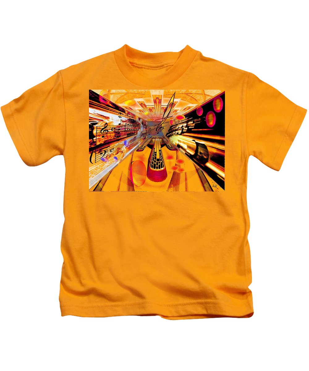 Toccata Kids T-Shirt featuring the digital art Toccata- Masters View by Helmut Rottler