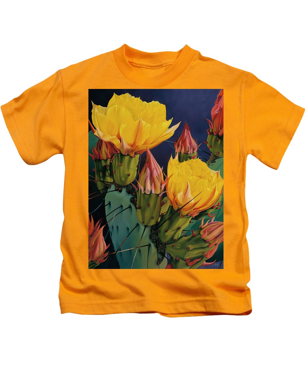 Flowers Kids T-Shirt featuring the painting Treasures In Highlight IIi by David Manje