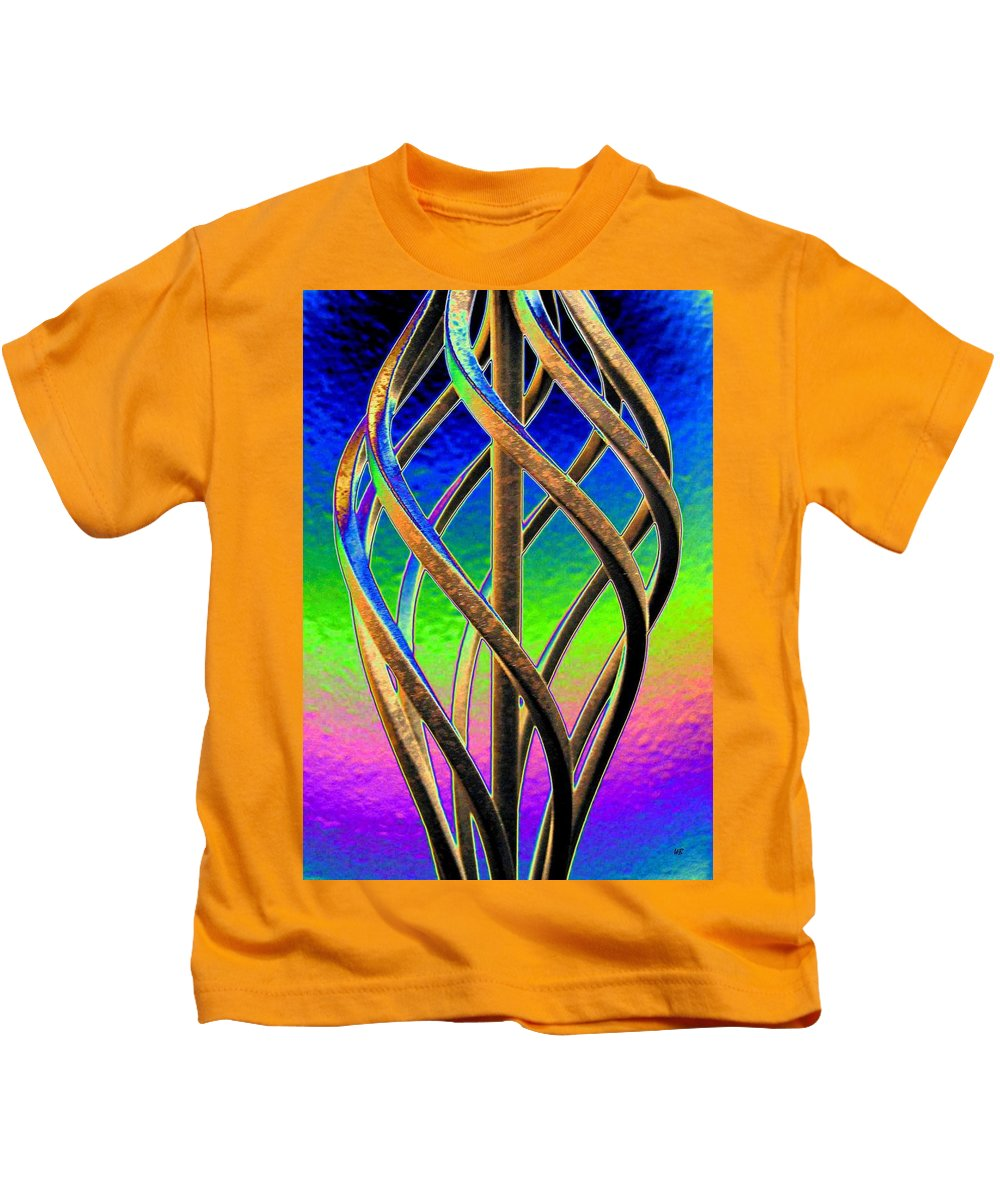 Abstract Kids T-Shirt featuring the digital art Twist And Shout 2 by Will Borden
