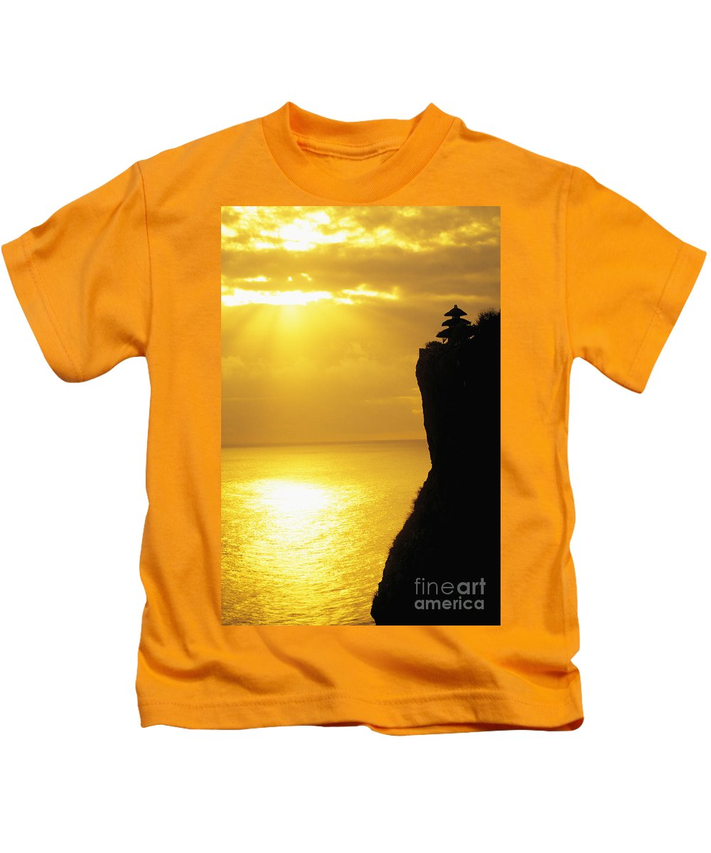 Architectural Kids T-Shirt featuring the photograph Uluwatu Temple by Dana Edmunds - Printscapes