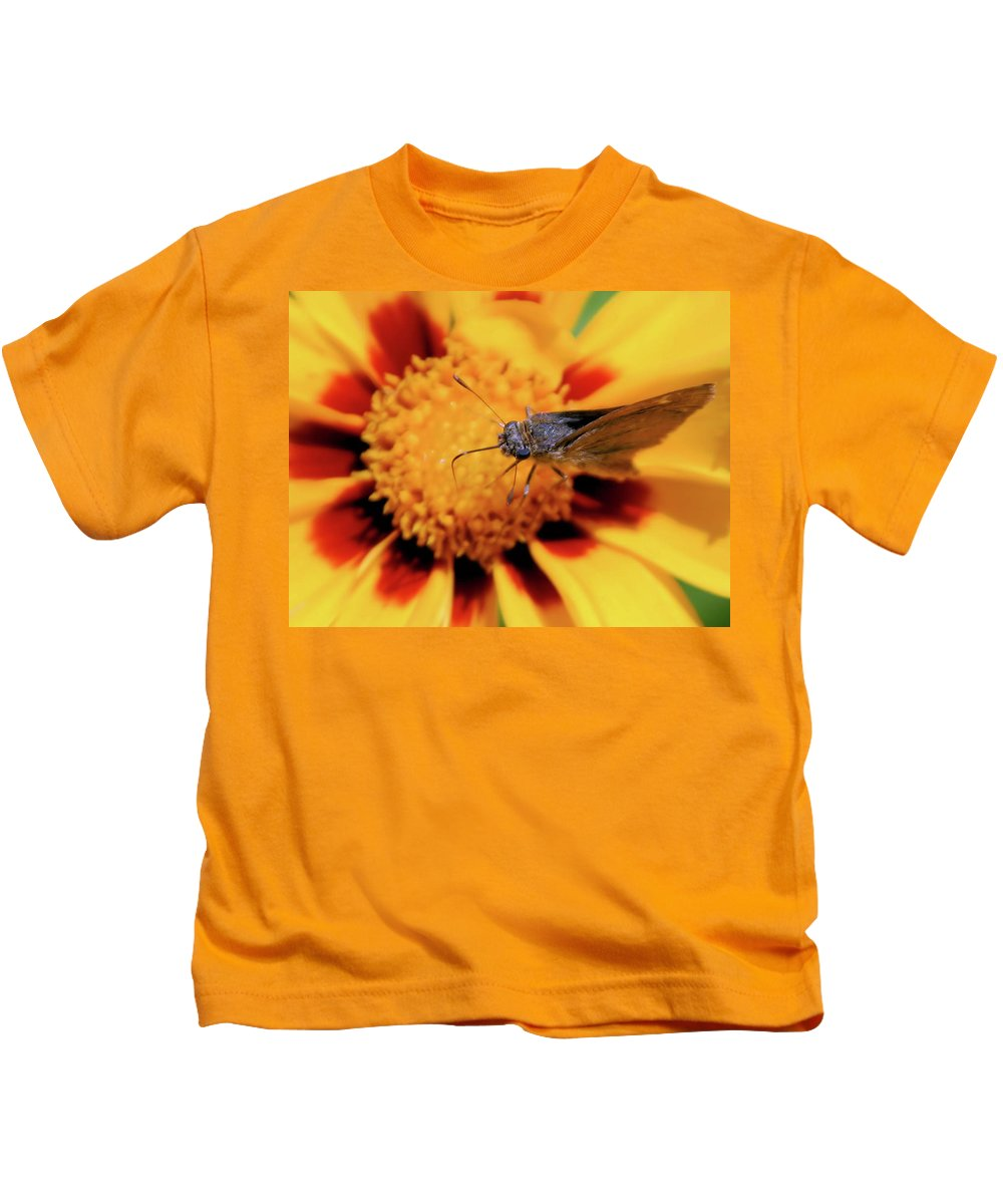 Butterfly Kids T-Shirt featuring the photograph Up Close by Karol Livote