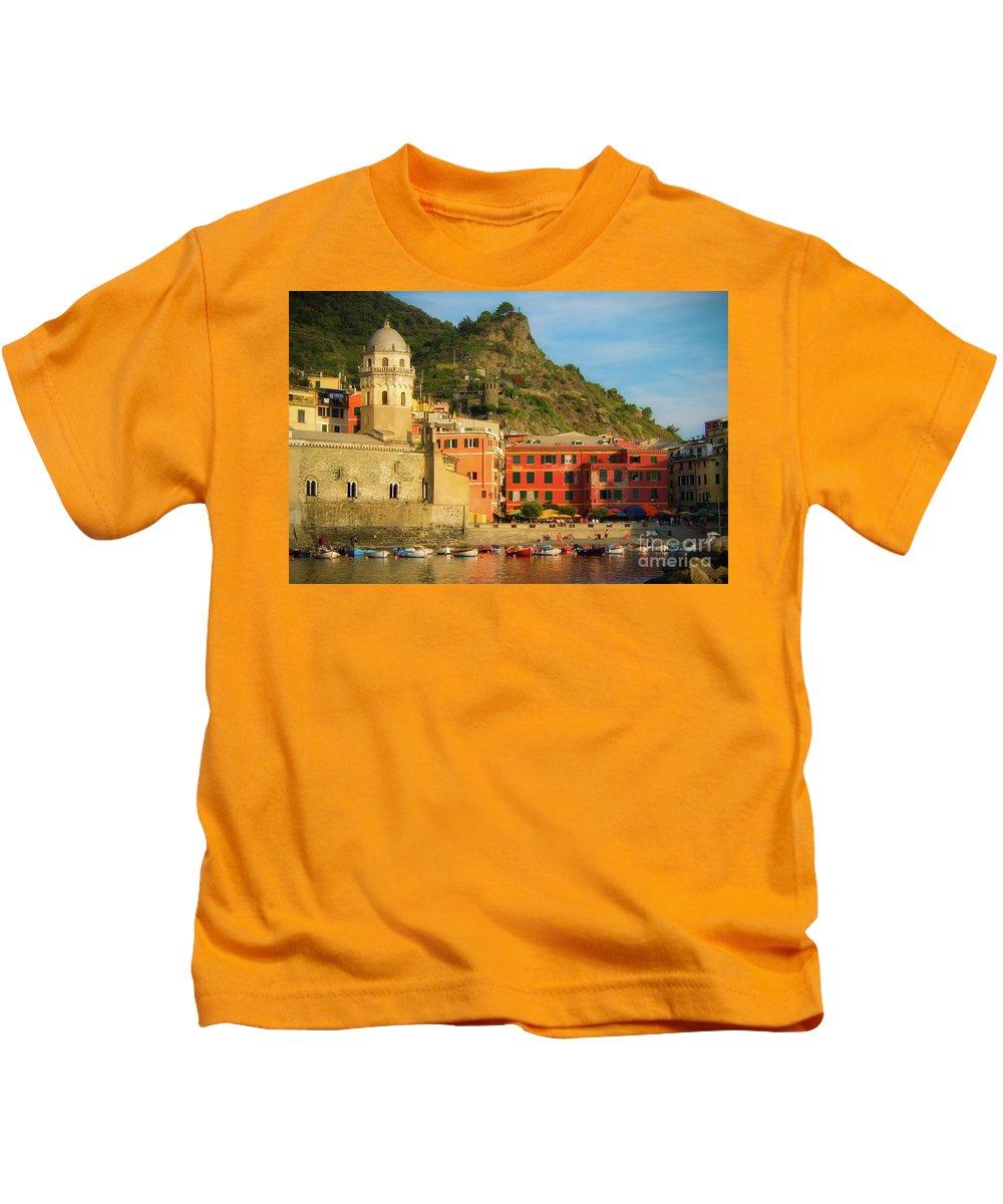 Vernazza Kids T-Shirt featuring the photograph Vernazza by Doug Sturgess