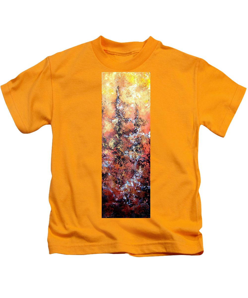 Tile Kids T-Shirt featuring the painting Wait For Sleep by Shadia Derbyshire