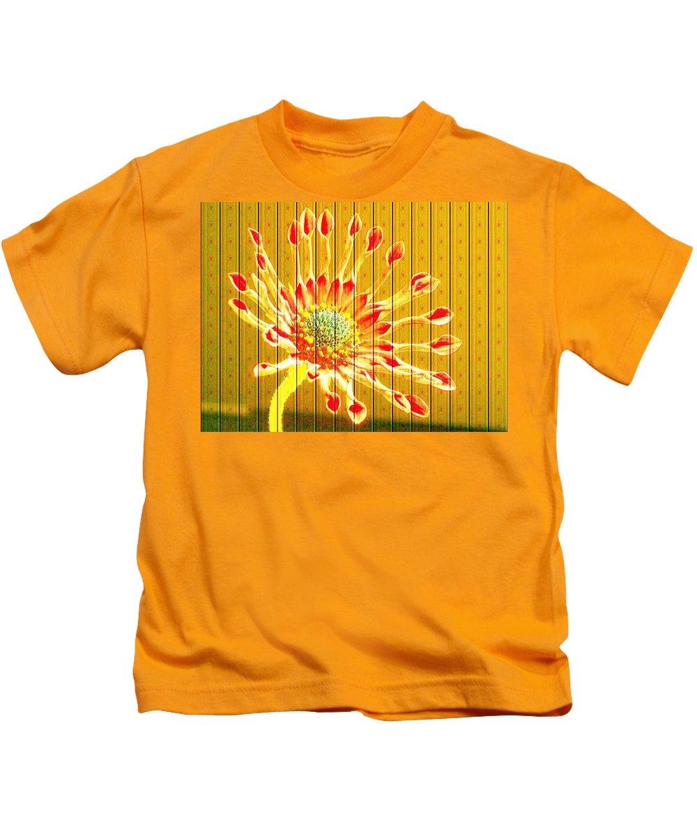 Flower Kids T-Shirt featuring the photograph Wall Flower by Tim Allen