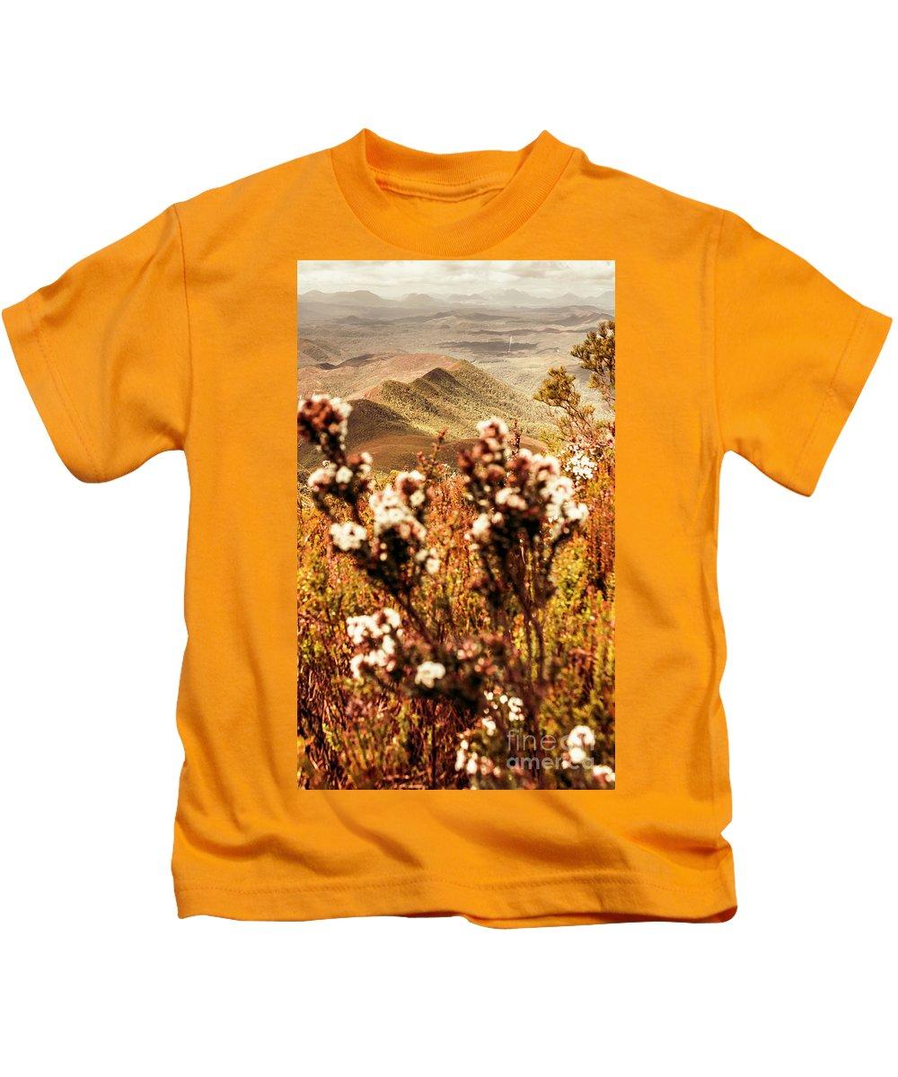 Zeehan Kids T-Shirt featuring the photograph Wild West Mountain View by Jorgo Photography - Wall Art Gallery