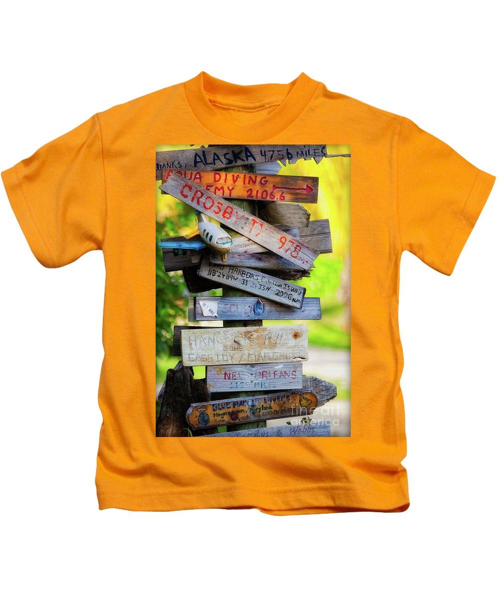 Coco View Resort Kids T-Shirt featuring the photograph World Traveler by Doug Sturgess