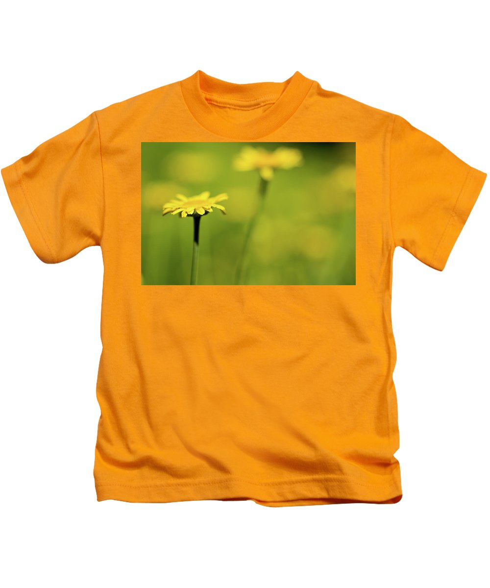 Jay Stockhaus Kids T-Shirt featuring the photograph Yellow by Jay Stockhaus