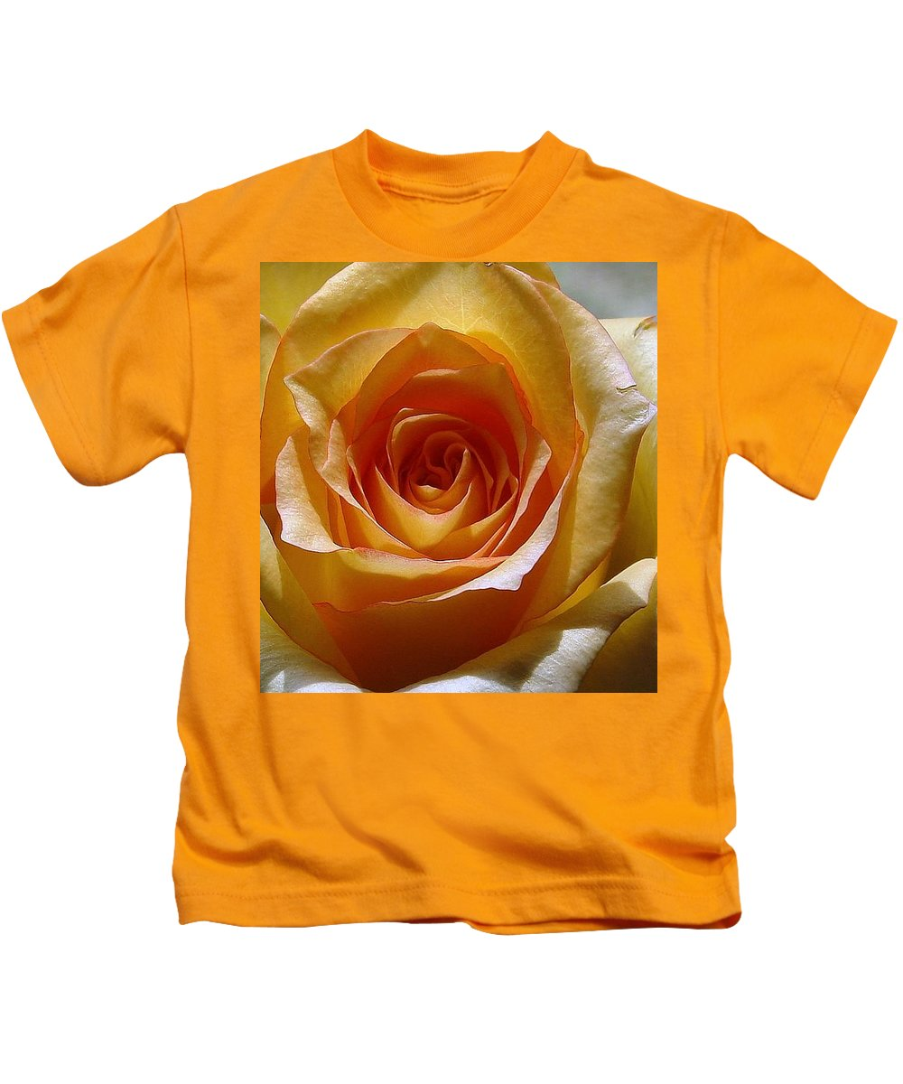 Rose Yellow Kids T-Shirt featuring the photograph Yellow Rose by Luciana Seymour