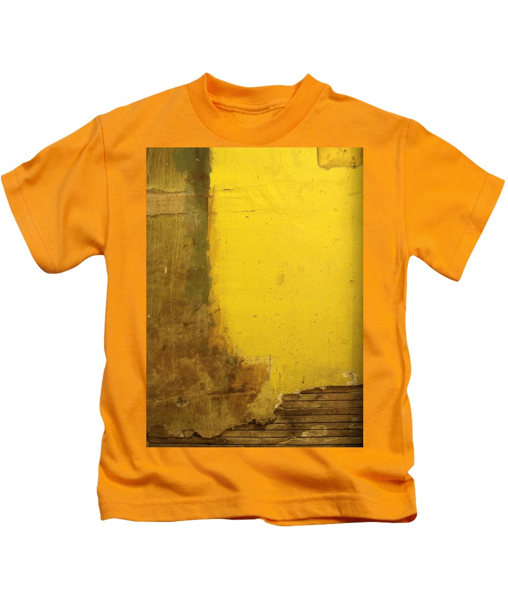 Yellow Kids T-Shirt featuring the photograph Yellow Wall by Tim Nyberg