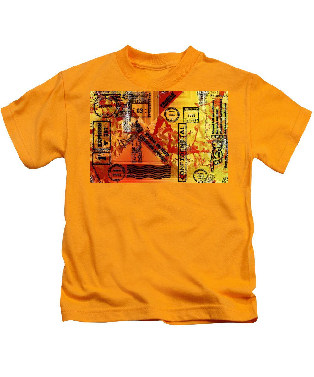 Abstract Kids T-Shirt featuring the painting You Got Me Coming And Going by RC DeWinter
