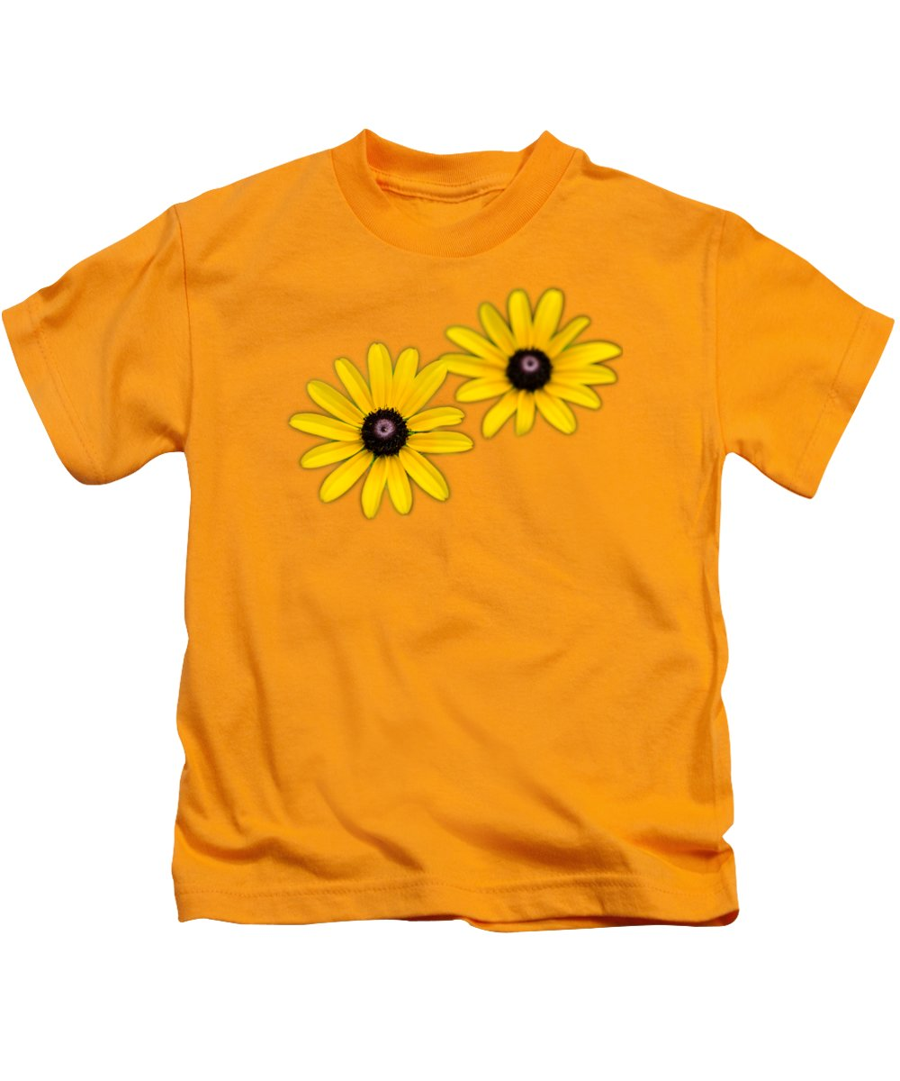 Daisies Kids T-Shirt featuring the photograph Double Daisies by Christina Rollo