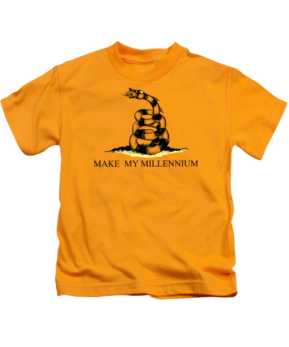 Sandworm Kids T-Shirt featuring the drawing Make My Millennium by Ludwig Van Bacon