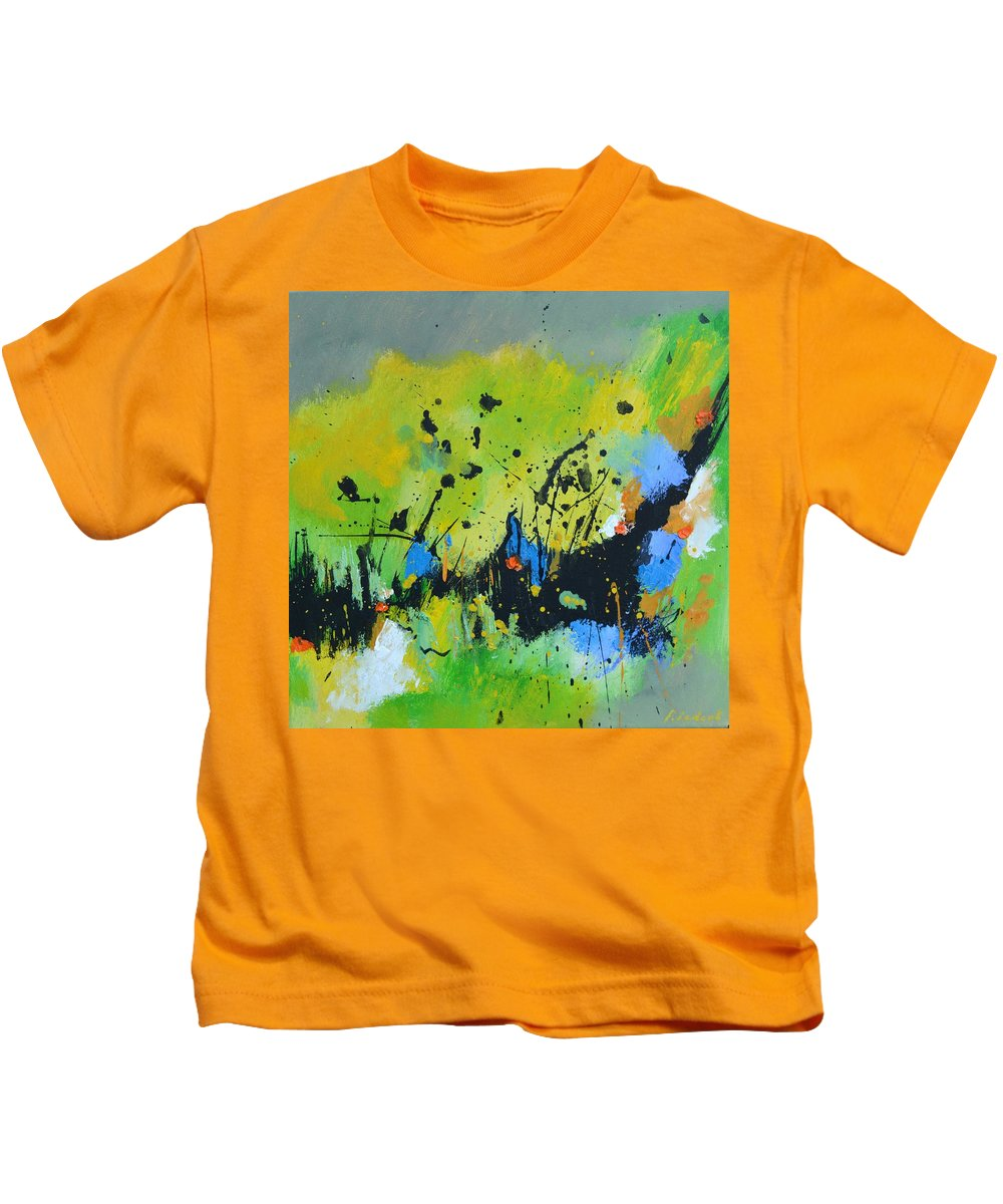Abstract Kids T-Shirt featuring the painting Summer feast by Pol Ledent