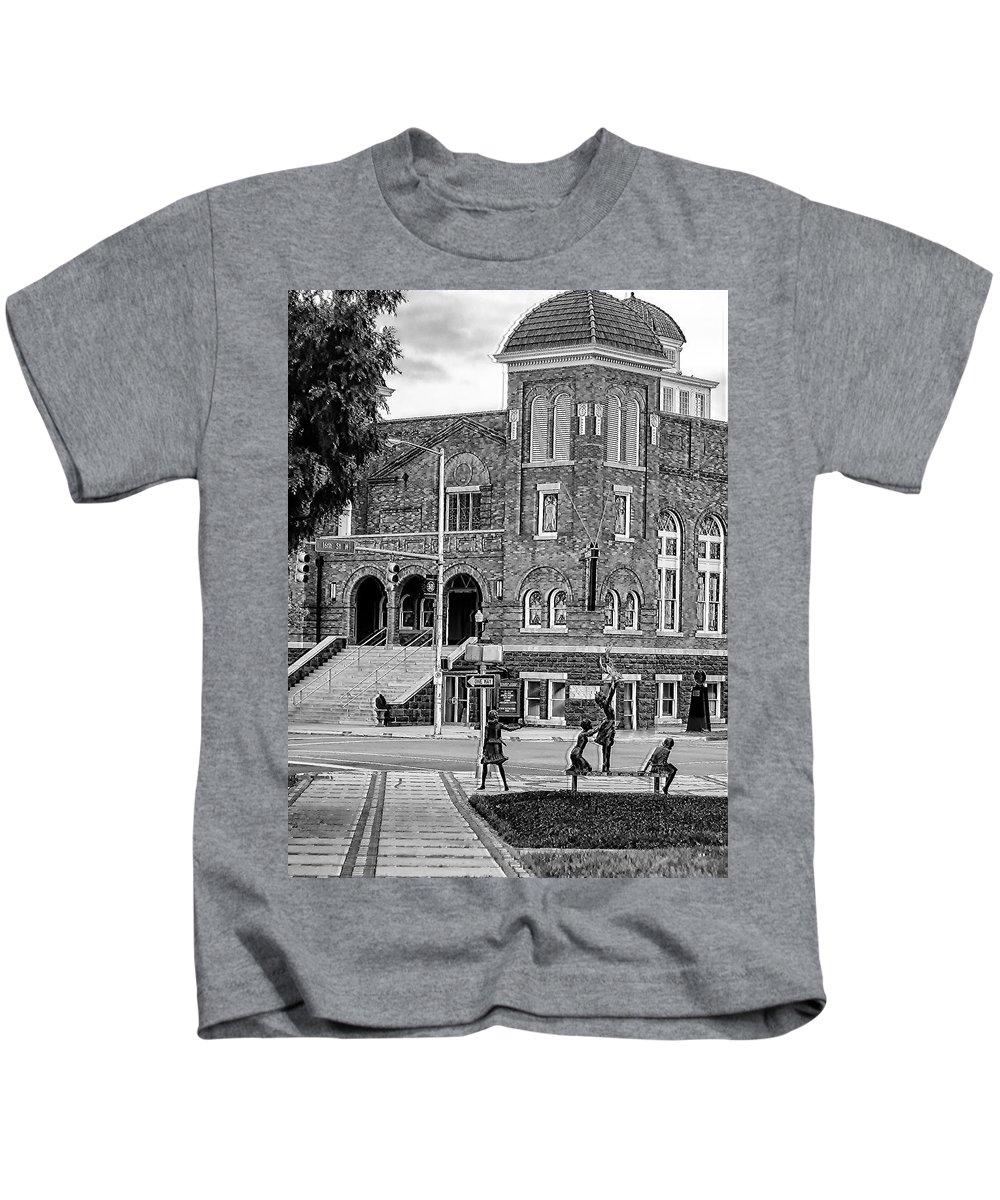 16th Street Baptist Church Kids T-Shirt featuring the photograph 16th Street Baptist Church by Tracy Brock