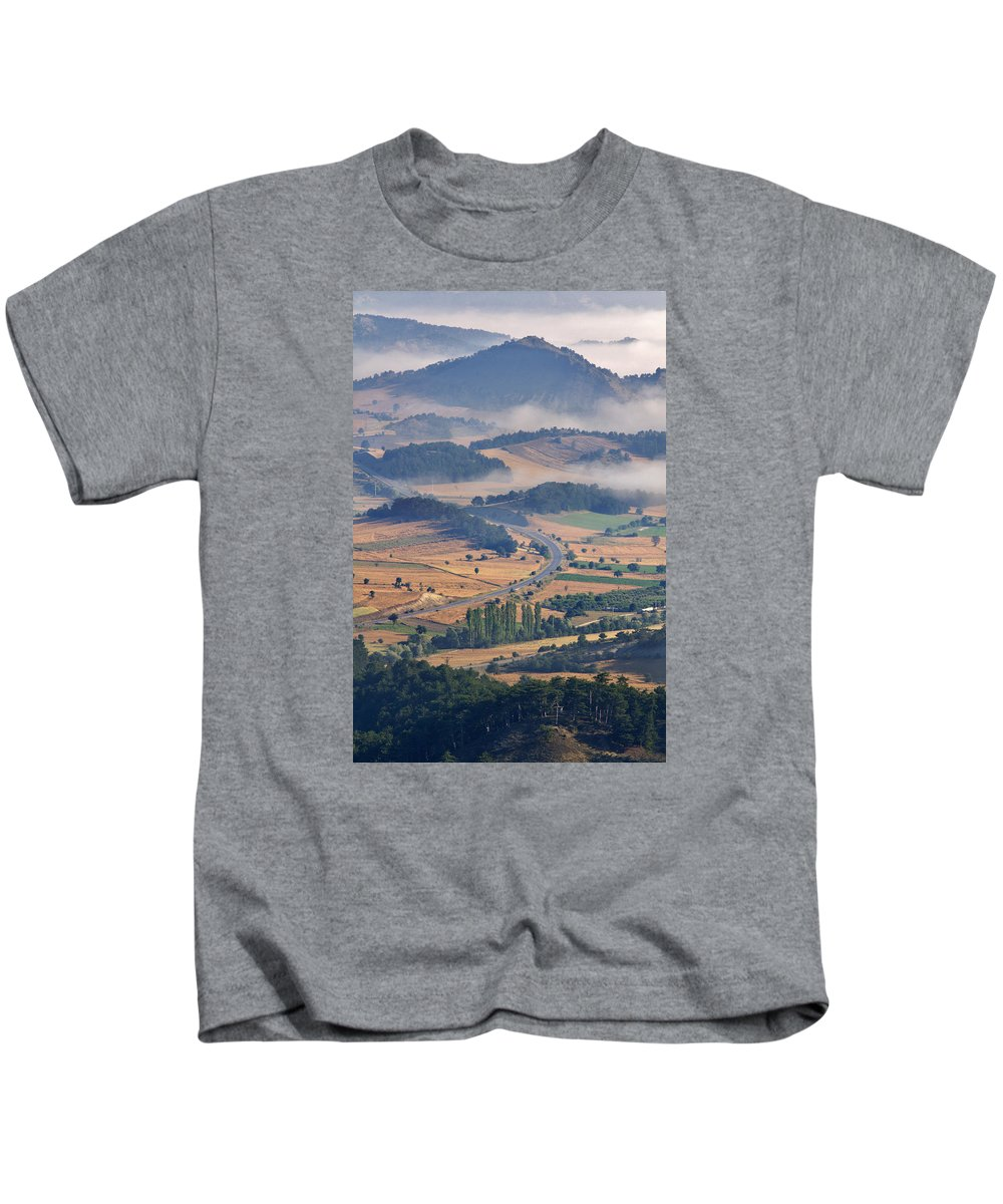 Nature Kids T-Shirt featuring the photograph A Foggy Day by Ayhan Altun