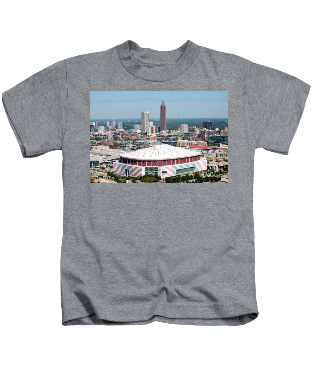 Bank Of America Kids T-Shirt featuring the photograph Atlanta by Bill Cobb