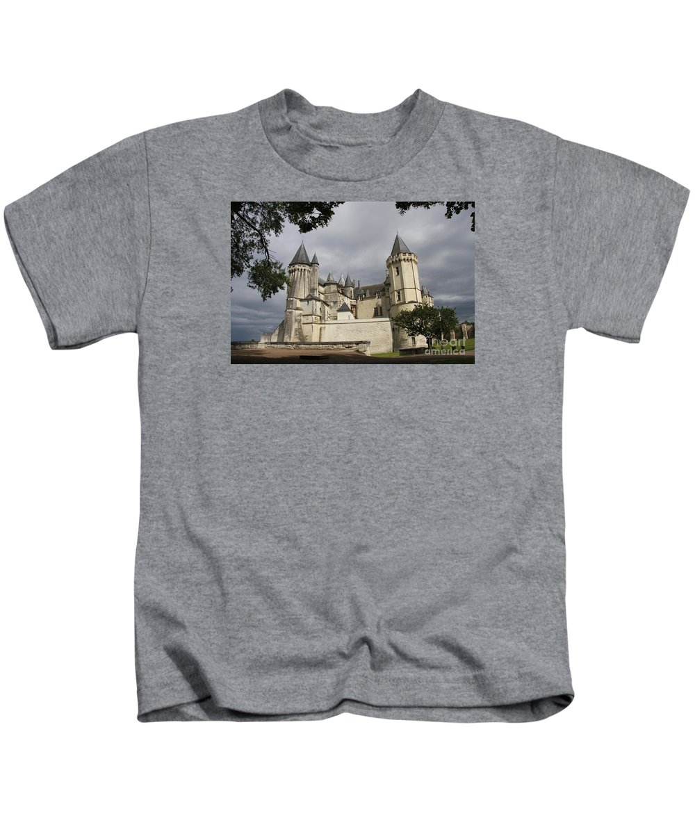 Castle Kids T-Shirt featuring the photograph Chateau Saumur by Christiane Schulze Art And Photography