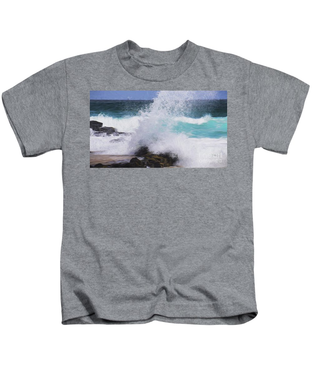 Surf Kids T-Shirt featuring the photograph Crash by Sheila Smart Fine Art Photography