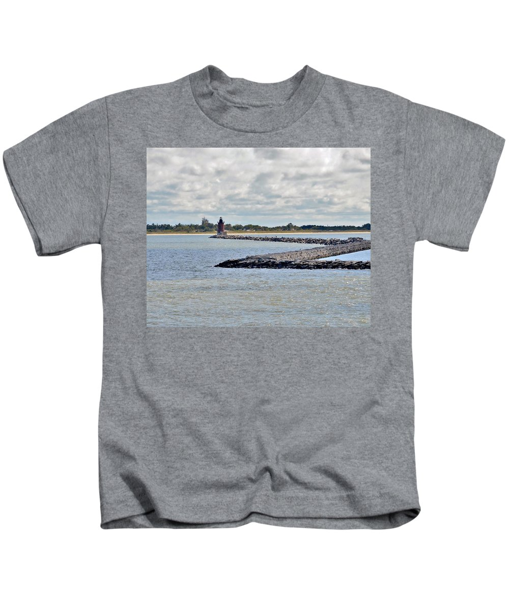 Lighthouse Kids T-Shirt featuring the photograph Delaware Breakwater East End Lighthouse by Kim Bemis