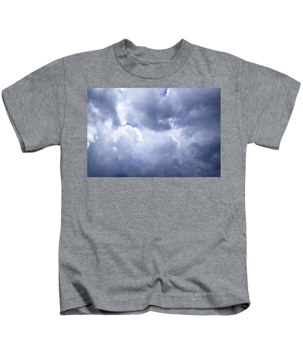 Sky Kids T-Shirt featuring the photograph Dramatic Cloudy Sky by Donald Erickson