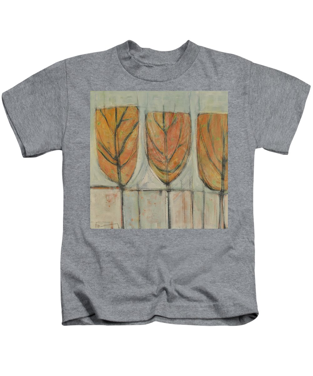 Trees Kids T-Shirt featuring the painting First Snow by Tim Nyberg