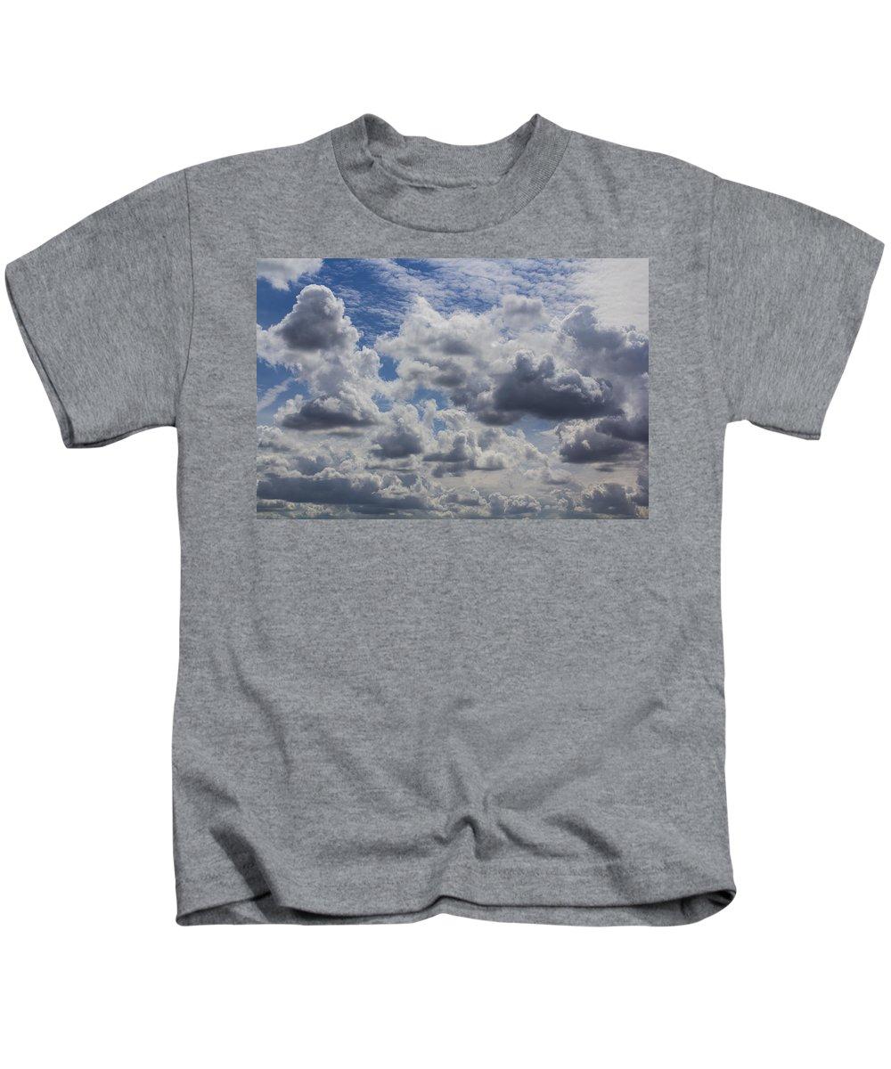 Summer Kids T-Shirt featuring the photograph Heavenly Clouds by David Pyatt