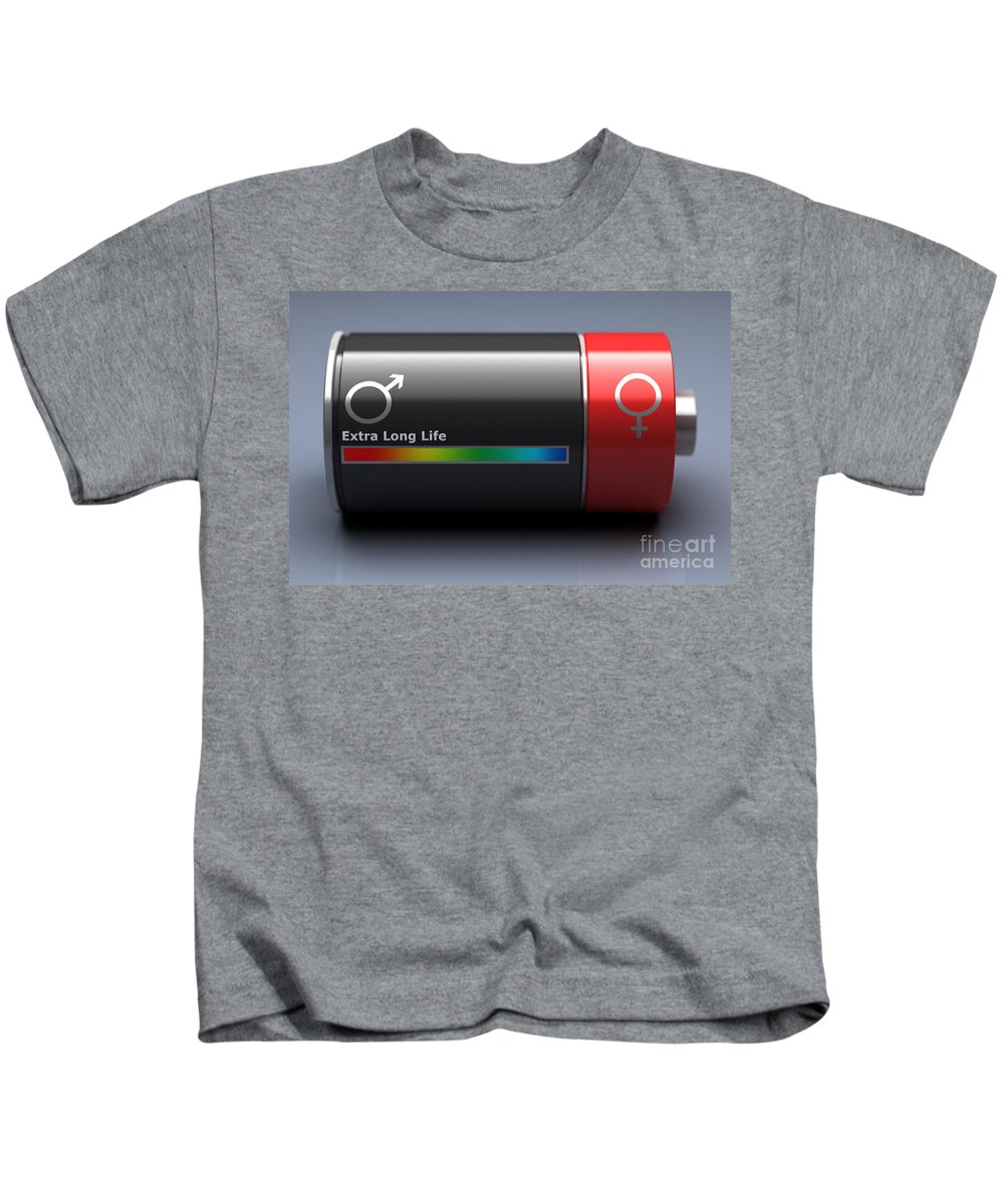 Digital Illustration Kids T-Shirt featuring the photograph Life Expectancy by Science Picture Co