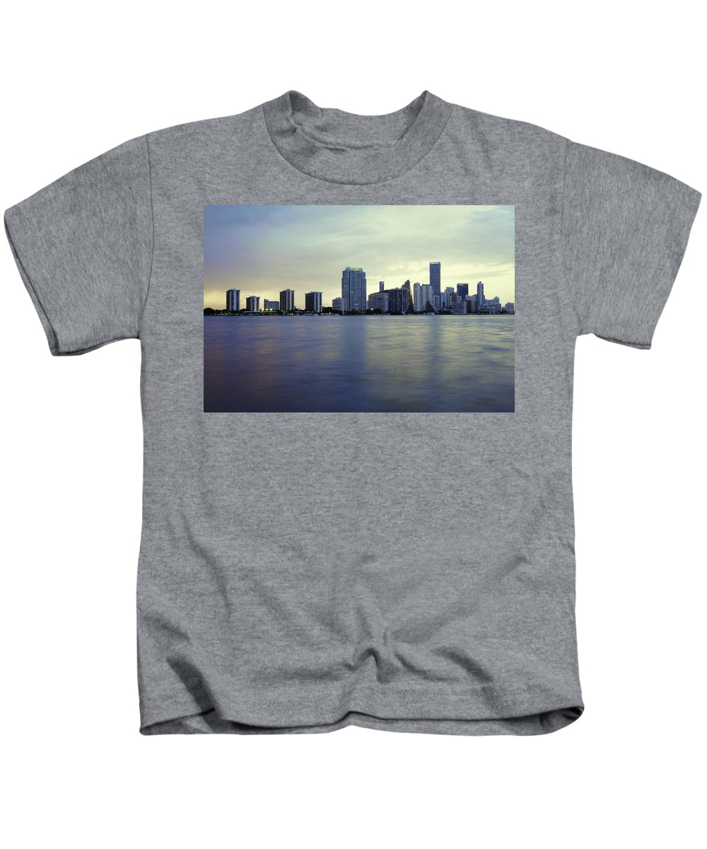 Miami Kids T-Shirt featuring the photograph Miami Downtown by Manuel Lopez