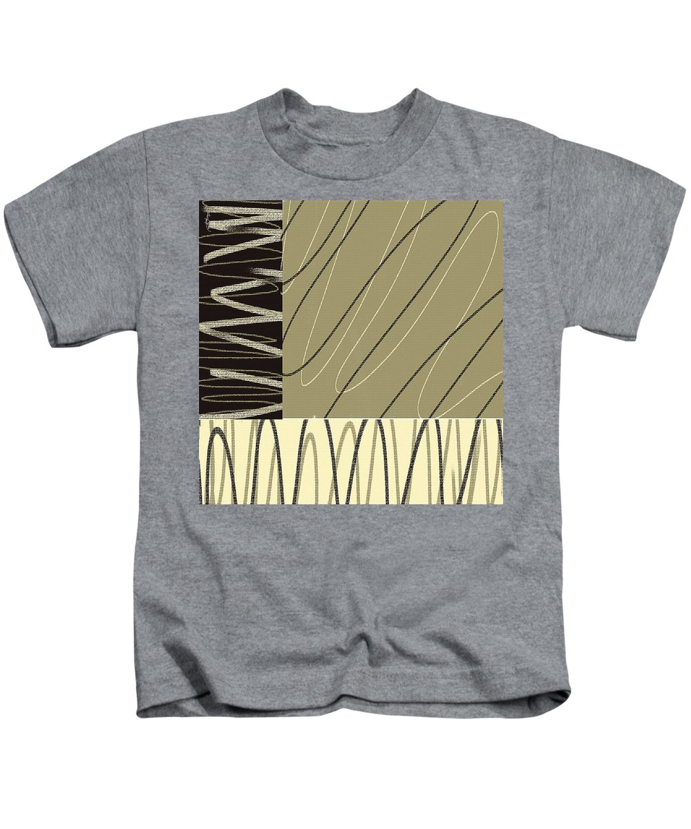 Taupe Kids T-Shirt featuring the painting No Ending by Lourry Legarde