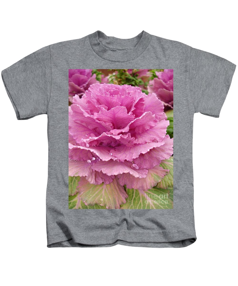 Ornamental Cabbage Kids T-Shirt featuring the photograph Ornamental Cabbage by Carol Groenen