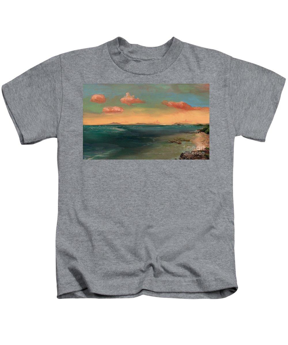Regina Gallant Kids T-Shirt featuring the painting Puerta Plata by Regina Marie Gallant