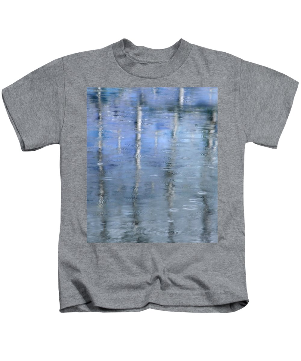 Architectural Abstract Kids T-Shirt featuring the photograph Raindrops On Reflections by KM Corcoran