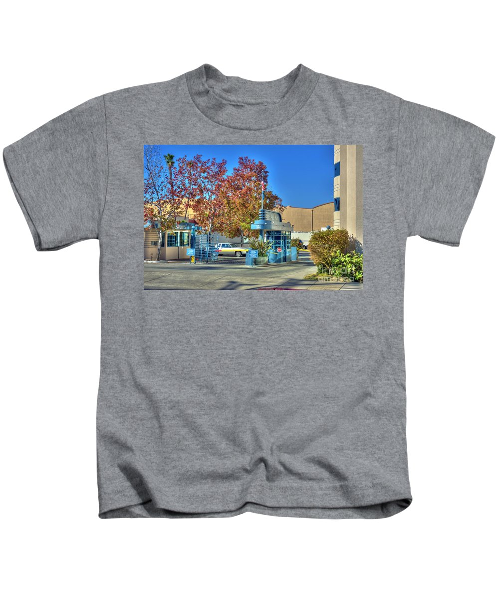Raleigh Studios Kids T-Shirt featuring the photograph Raleigh Studios Hollywood Ca Film Production Stages by David Zanzinger