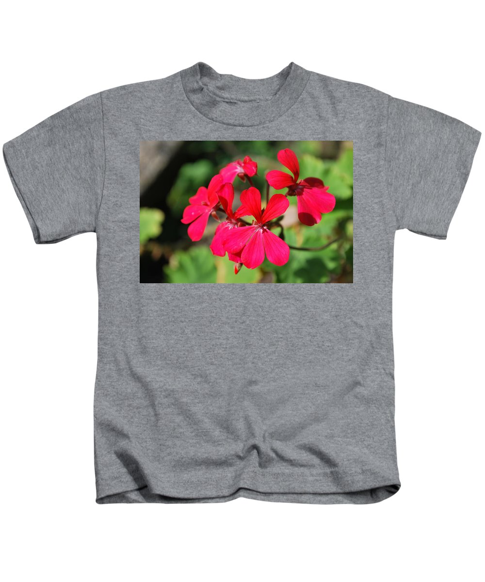 Red Flower Kids T-Shirt featuring the photograph Red Flower by George Katechis