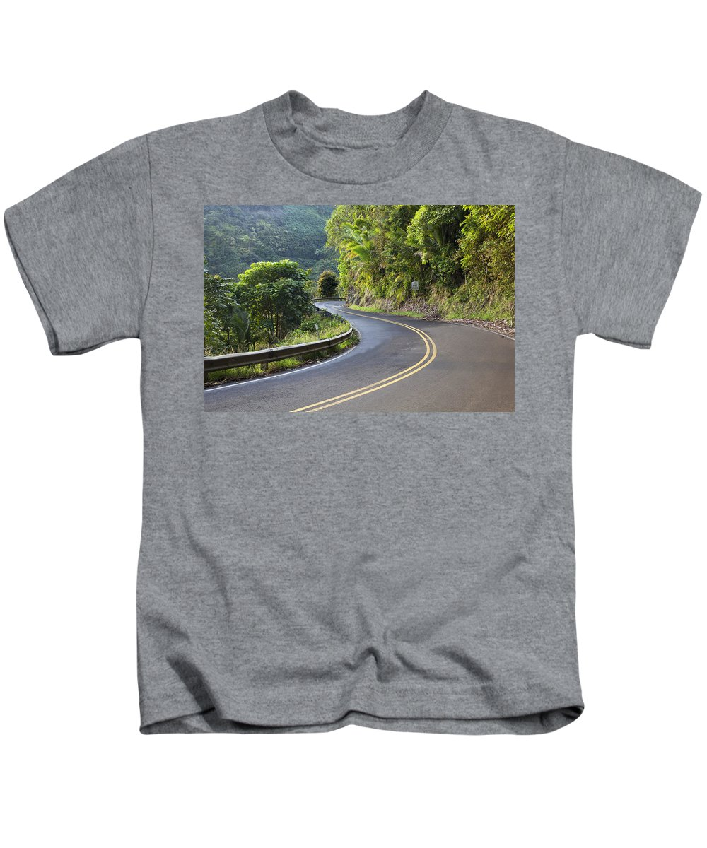 Ahead Kids T-Shirt featuring the photograph Road To Hana by Jenna Szerlag