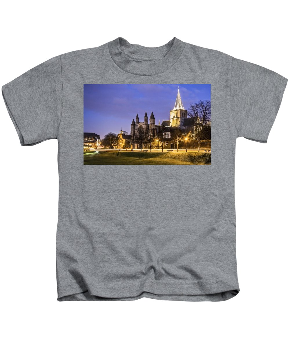 Cathedral Kids T-Shirt featuring the photograph Rochester Cathedral by Dawn OConnor