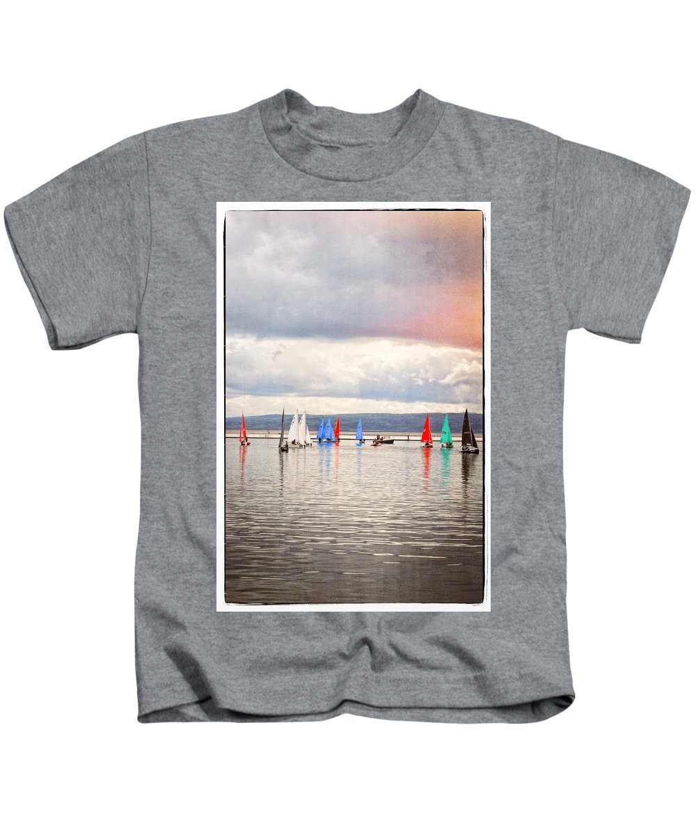 Sailboat Kids T-Shirt featuring the photograph Sailing On Marine Lake A Reflection by Spikey Mouse Photography