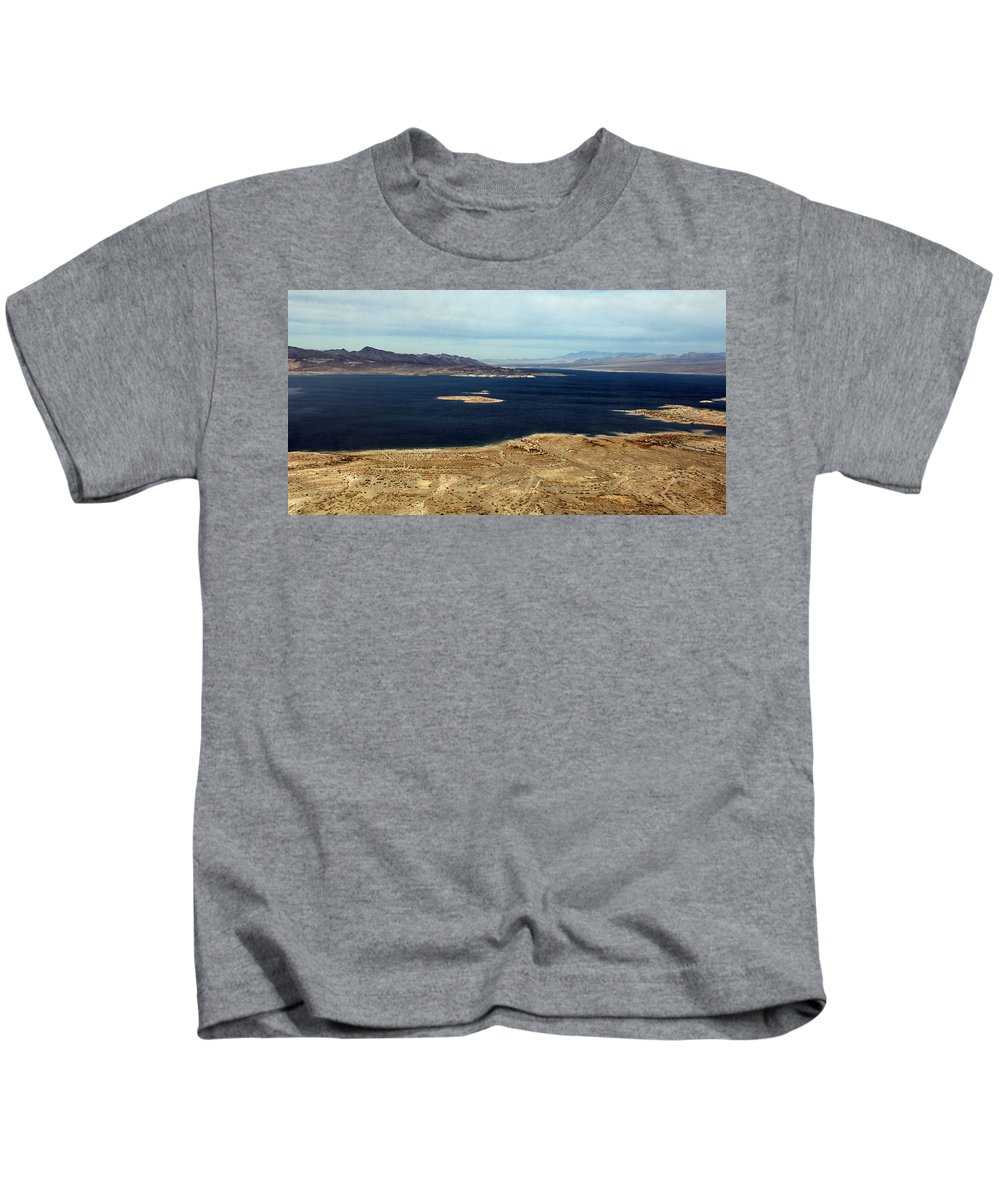 Lake Mead Kids T-Shirt featuring the photograph Shades Of Blue by Debbie Oppermann
