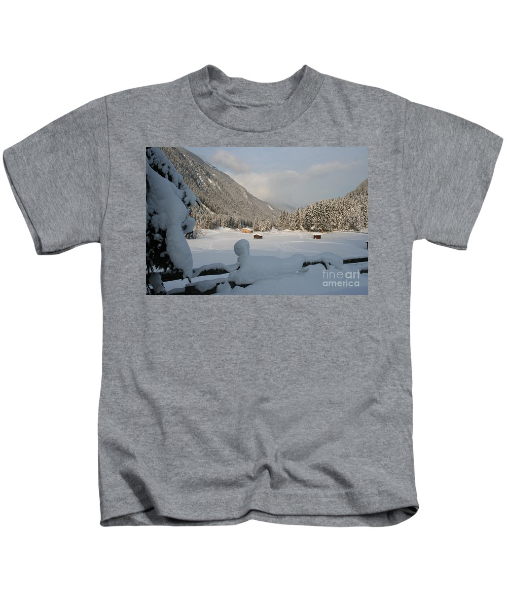 Snow Kids T-Shirt featuring the photograph Snowed Under by Christiane Schulze Art And Photography