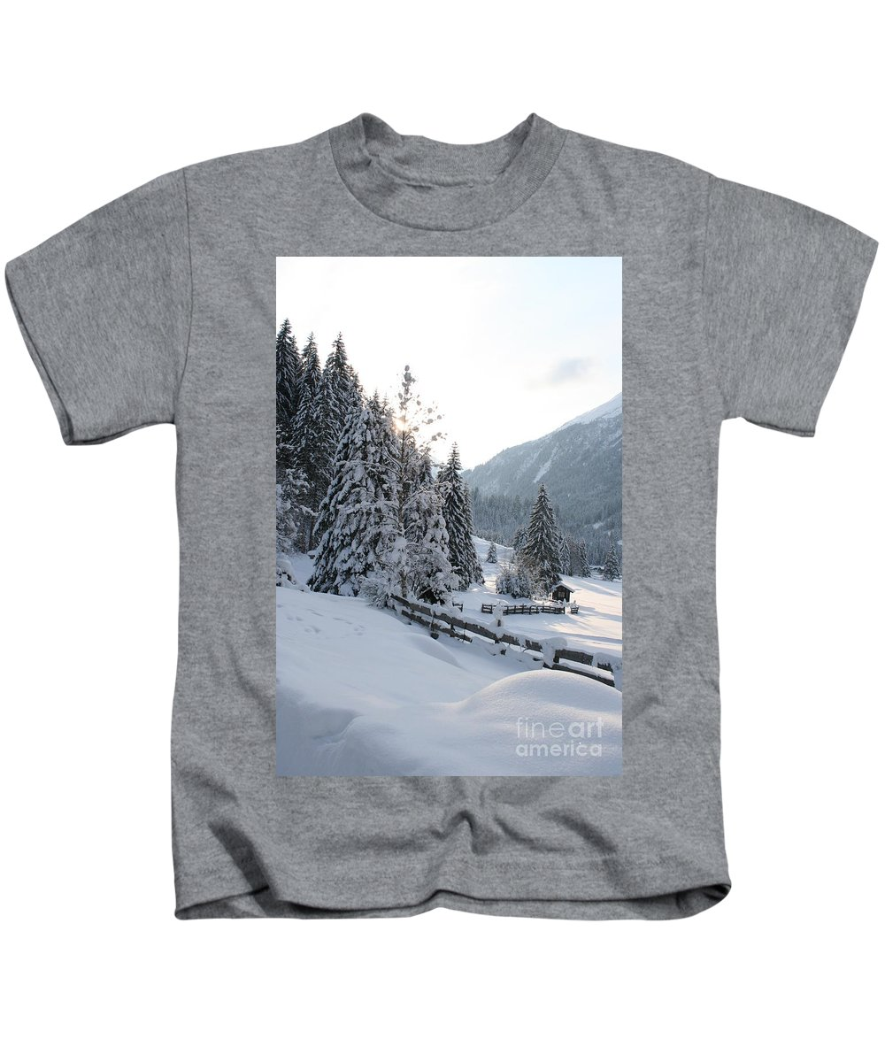 Snow Kids T-Shirt featuring the photograph Snowy Trees by Christiane Schulze Art And Photography