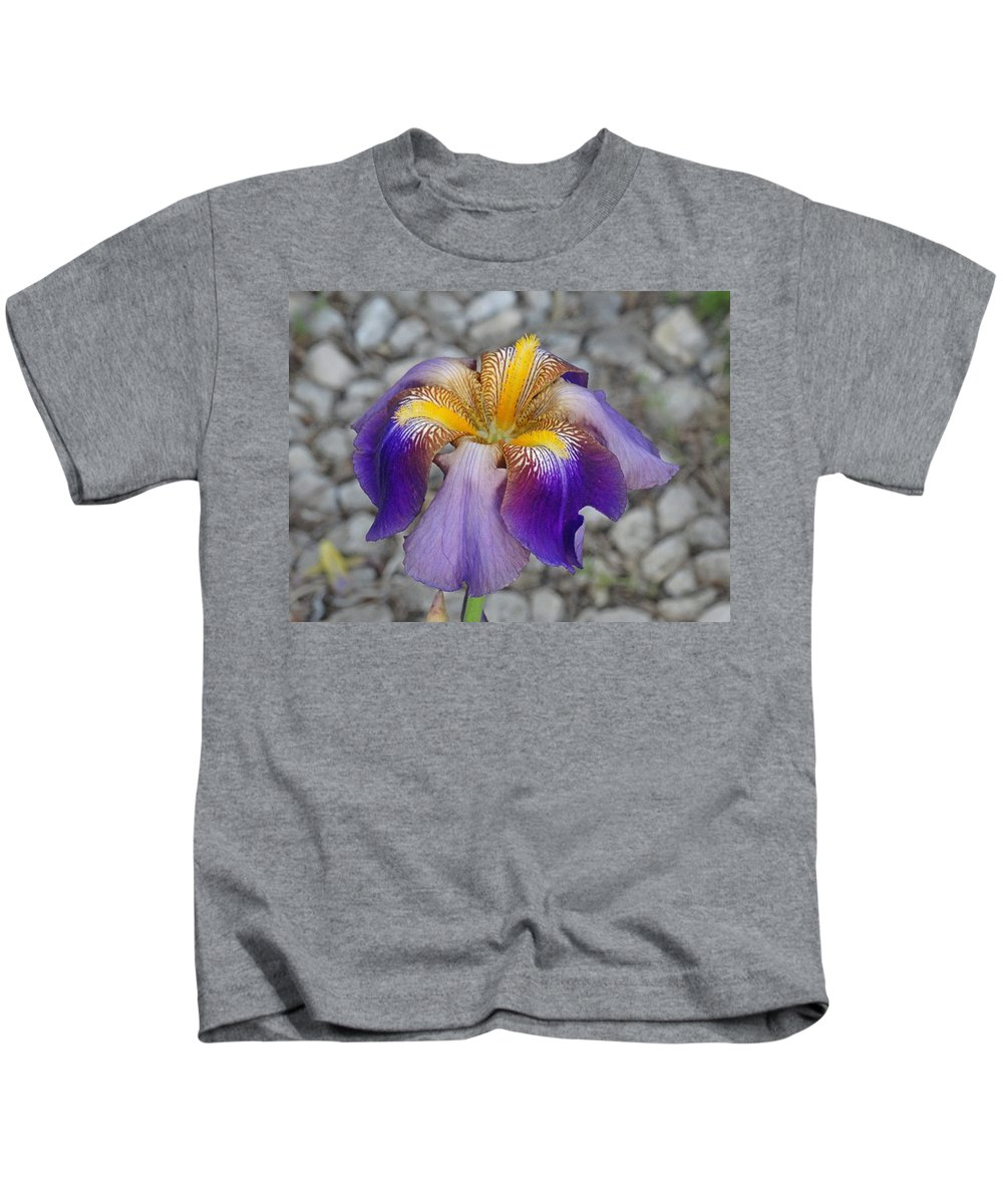 Flower Kids T-Shirt featuring the photograph Spring Iris by Greg Boutz