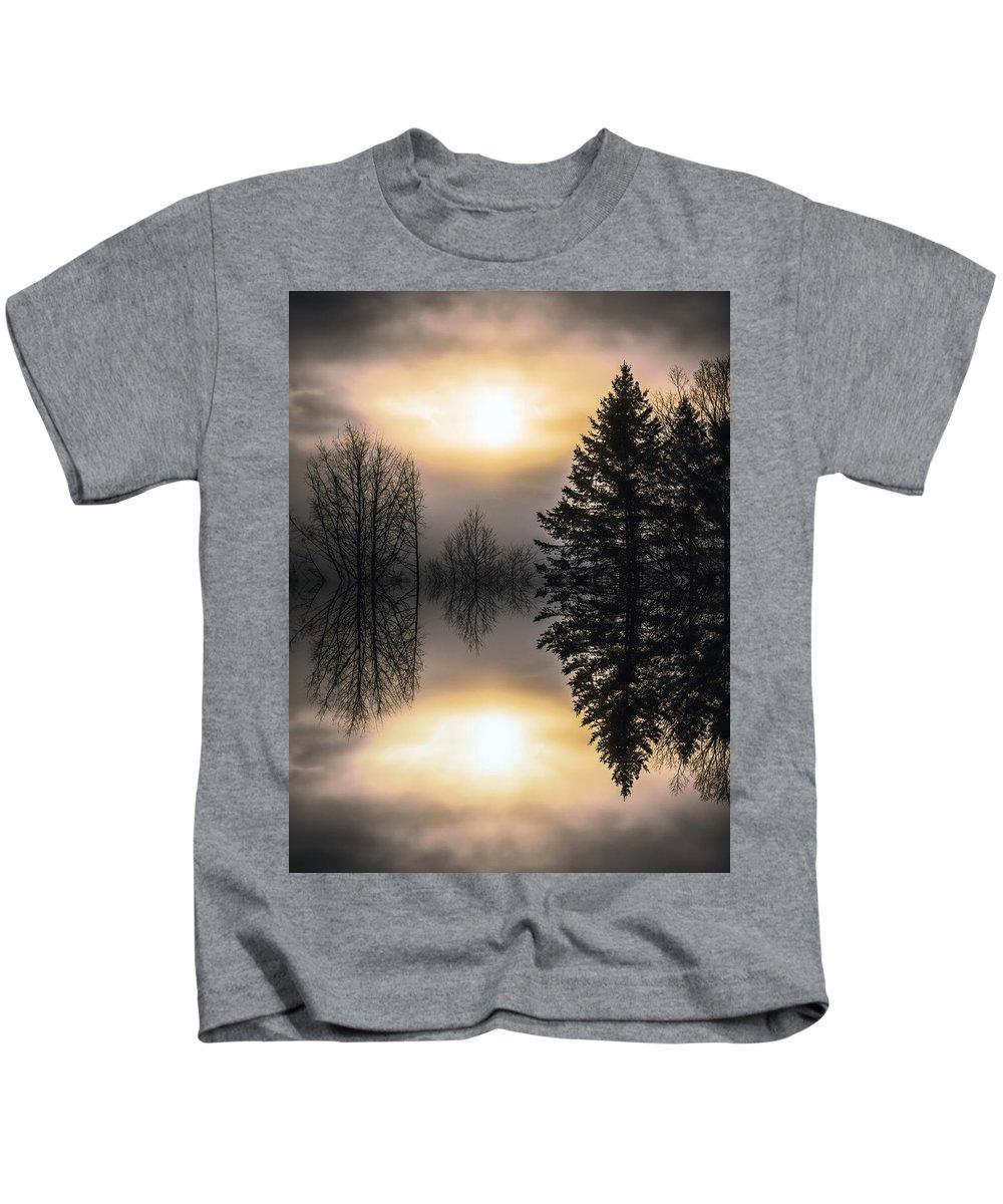 Sunrise Kids T-Shirt featuring the photograph Sunrise-sundown by Sherman Perry