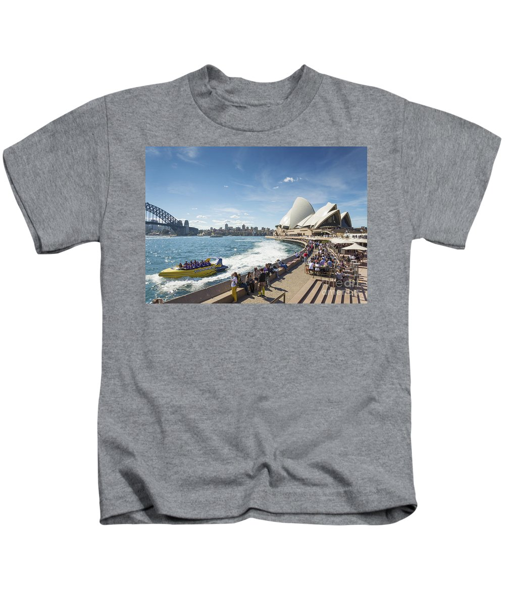 Architecture Kids T-Shirt featuring the photograph Sydney Harbour In Australia By Day by Jacek Malipan
