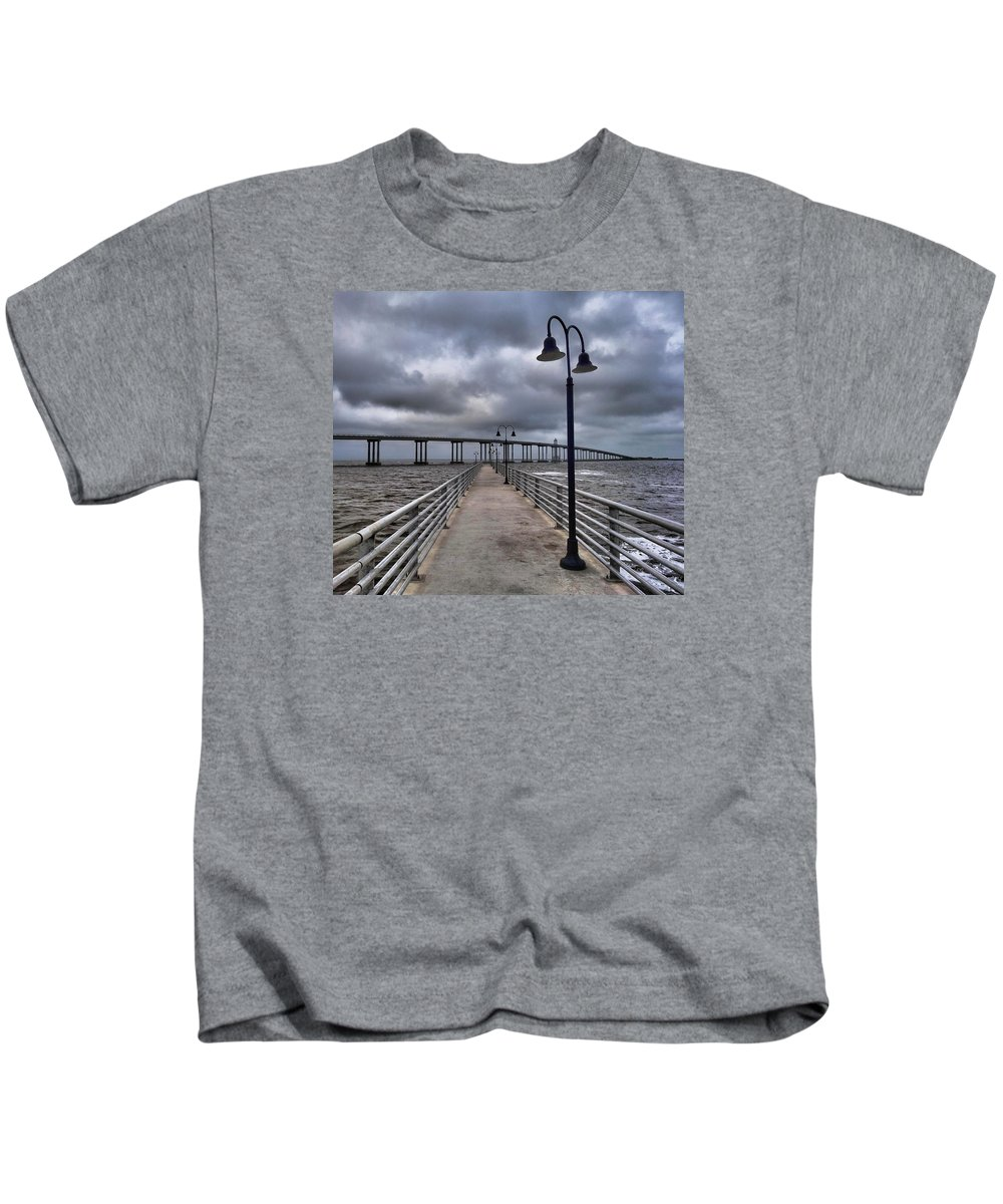Peaceful Photograph Kids T-Shirt featuring the photograph The Walk by Dan Sproul