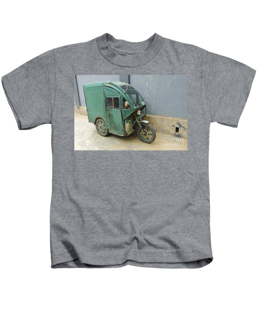 Asia Kids T-Shirt featuring the photograph Tuk Tuk 3-wheeled Motorcycle by John Shaw