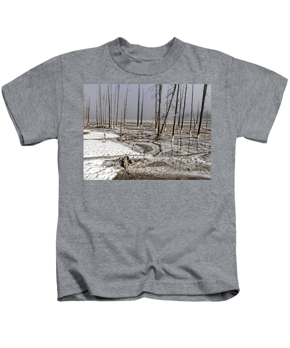 Yellowstone Kids T-Shirt featuring the photograph Yellowstone by Image Takers Photography LLC
