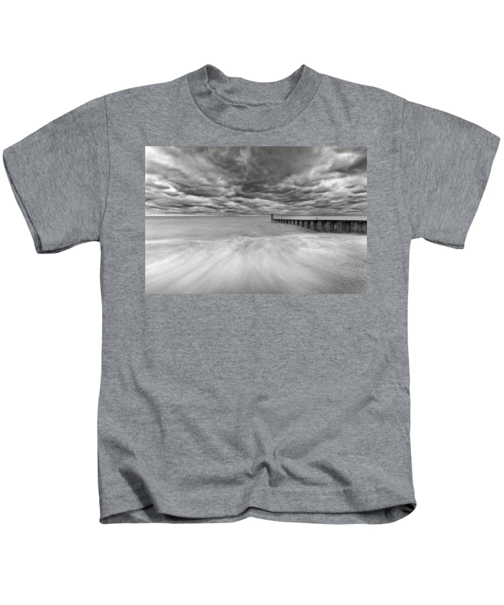 Lake Michigan Kids T-Shirt featuring the photograph Breakwater by Peter Lakomy