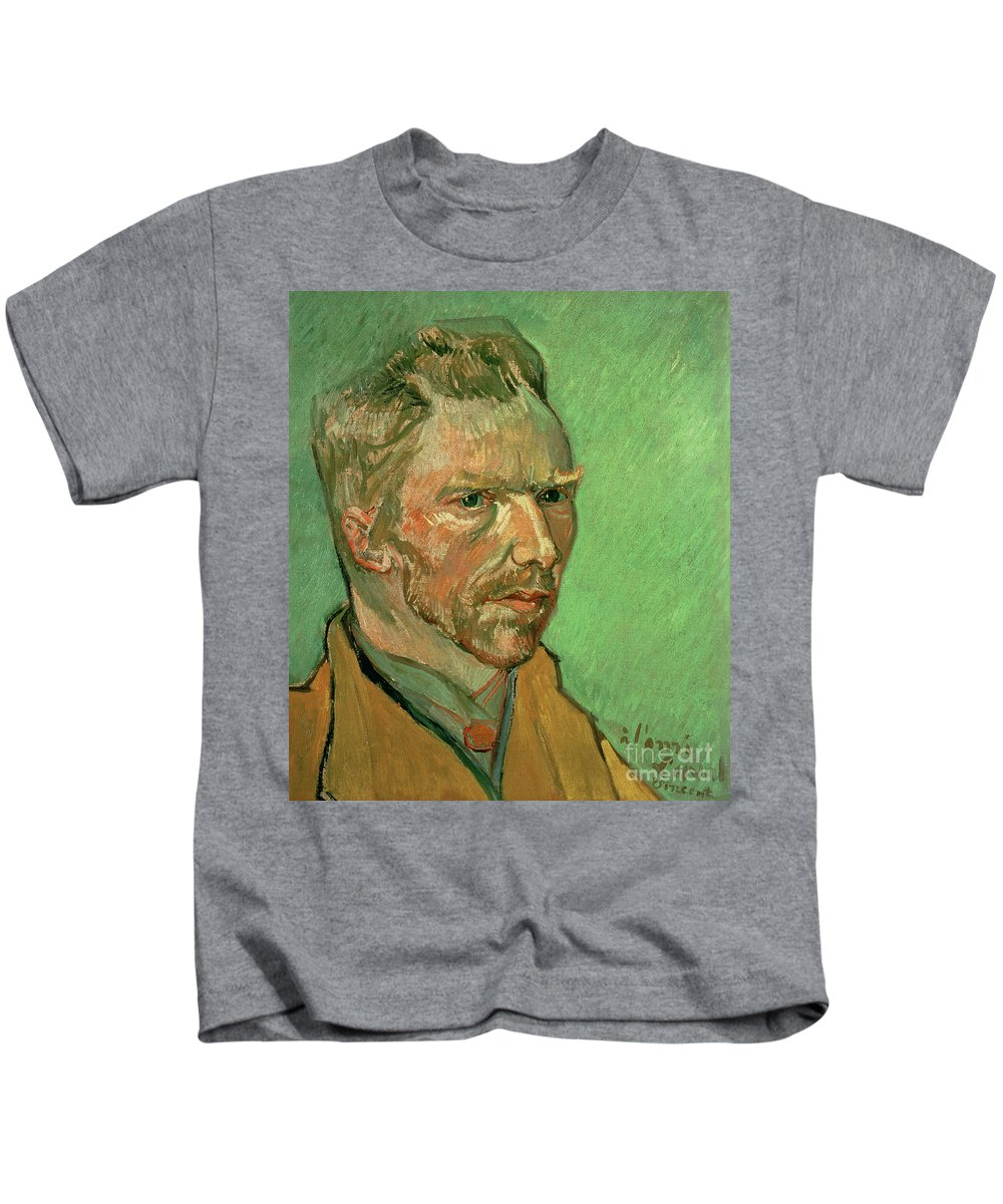 Vincent Kids T-Shirt featuring the painting Self Portrait by Vincent Van Gogh